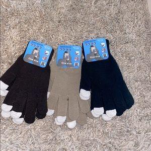 Touch screen gloves bundle set